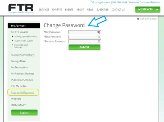 change password template
